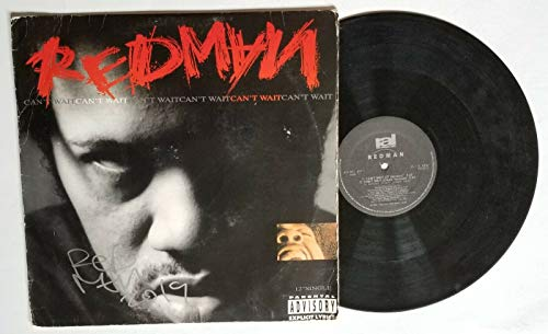 Redman rapper REAL hand SIGNED Can't Wait Vinyl single COA Autographed Def Squad