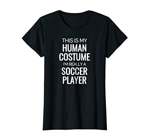 Womens Soccer player T-shirt Funny Soccer Halloween Costume