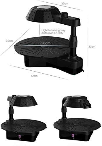 YUIOLIL Gril électrique 3D Infrared Grill Pas de fumée Rotation Pan Pan Grill Nettoyage Facile