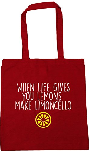 Limoncello Red x38cm Beach Life 42cm Tote Make When litres Lemons Gym 10 HippoWarehouse Classic You Bag Shopping Gives qwR4nCY