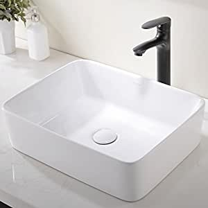 Bathroom sink Marble Bathroom Sinks u203a Vessel Sinks Amazoncom Modern Porcelain Above Counter White Ceramic Bathroom Vessel Sink
