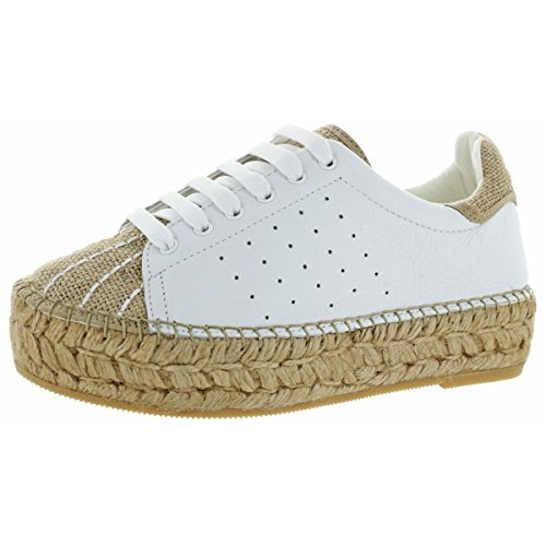 Vince Camuto Penny2 Women's Leather Espadrille Platform Shoes Natural Size (Designer Womens Designer Shoe)