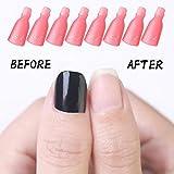 HiMo 10PC Plastic Acrylic Nail Art Soak Off Cap