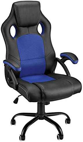 Video Game Chairs High Back Tall Gaming Computer Chair Racing Office Chair Ergonomic Armrest Comfortable PU Leather Mesh Chairs Adjustable Swivel