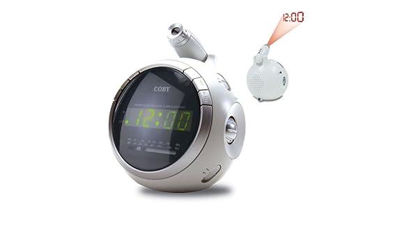 Coby cr-a78 Digital Am/FM Radio Reloj Despertador con proyector de ...