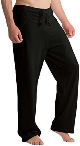 100%オーガニックコットン コトニーク メンズ パジャマ ストリングパンツ:ブラック