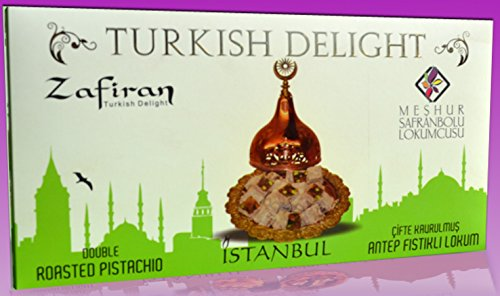 Safranbolu Turkish Delights with Double Roasted Pistachios 300gr. box