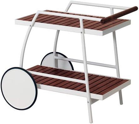 IKEA VINDALSO - Trolley, al aire libre, blanco, eucalipto manchado ...