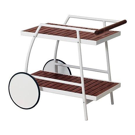 IKEA VINDALSO - Trolley, al aire libre, blanco, eucalipto manchado marrón - 81x51 cm: Amazon.es: Hogar