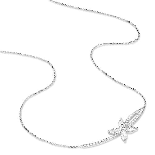 HISTOIRE D'OR - Collier Alessandra Or Blanc et Oxydes - Femme - Or blanc 375/1000