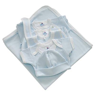 BabywearUK Premium Pack de démarrage (Bleu à rayures)–Naissance–British Made