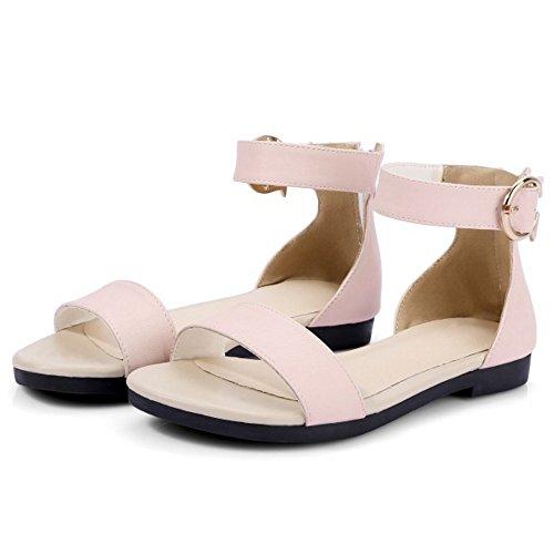 597 Sandales Boucle rose Femme Plat Chaussures Bride Elegant Simple a Plage TAOFFEN XxwqFYvSx