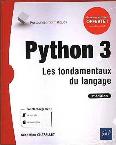 couverture du livre Python 3