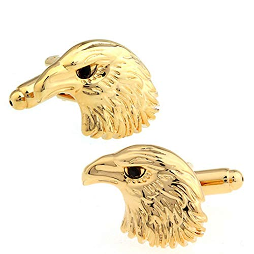 JESSICA FOSTERdddd Cuff Links Horse Design Animal Series Bear Elephant Eagle Men Cufflinks,Gold Eagle