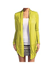 Hollywood Star Fashion Women's Drape Pockets Light Weight Flyaway Cardigan Shawl
