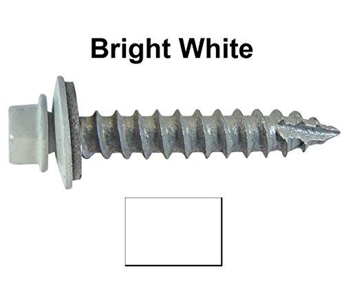 14-metal-roofing-screws-250-screws-x-1-1-2-brite-white-hex-washer-head-sheet-metal-roof-screw-self-s