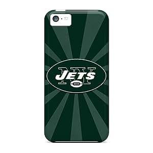 Carcasa rígida para teléfono Carcasa para iPhone 5C (zup18944iidv) personalizado con New York Jets patrón