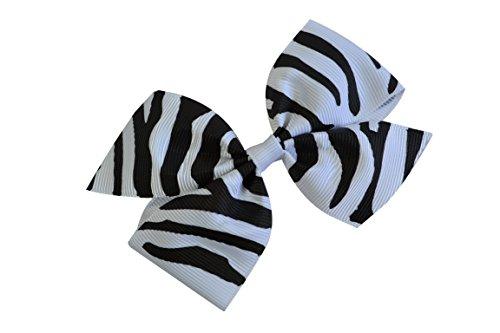 Funny Girl Designs 3.5 Inch Polka Dot Pinwheel Bow (Baby Snap Clip, Black & White -