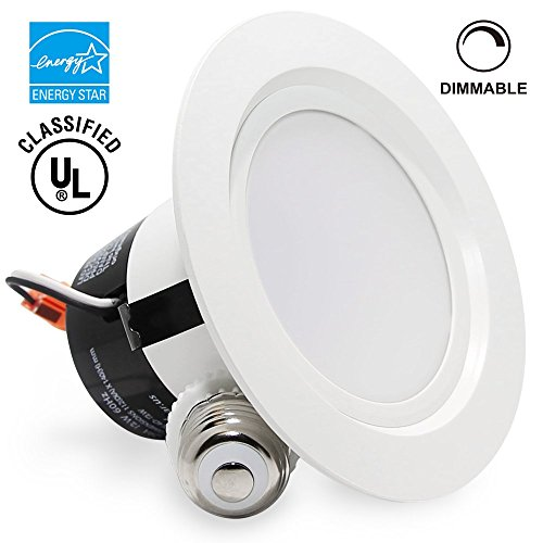 4-inch ENERGY STAR UL-classified 12W Dimmable Retrofit LED Recessed Lighting Fixture, 85W Halogen Equivalent LED Ceiling Downlight,Soft White 2700K, 850LM, 120° Beam Angle Remodel Can Light