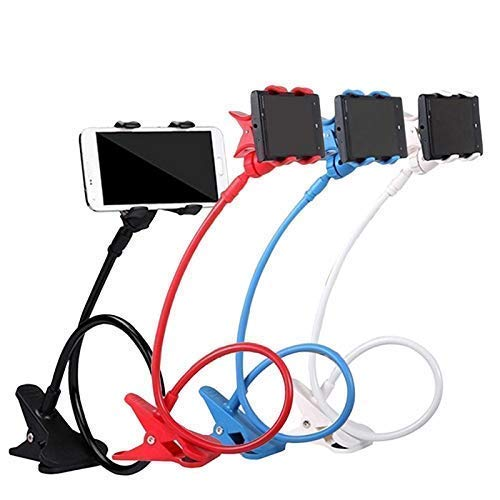 TECHSTONE Lazy Phone Holder Universal Stand Flexible Clip Bracket Holder Lazy Bed Desktop for Cellphone