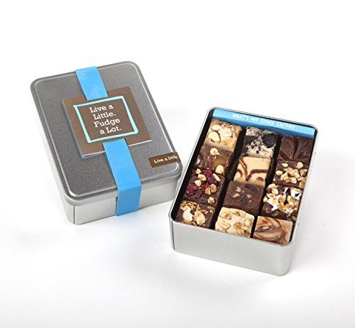 - Big Little Fudge Live a Little Gift Tin - 12 Assorted Pieces