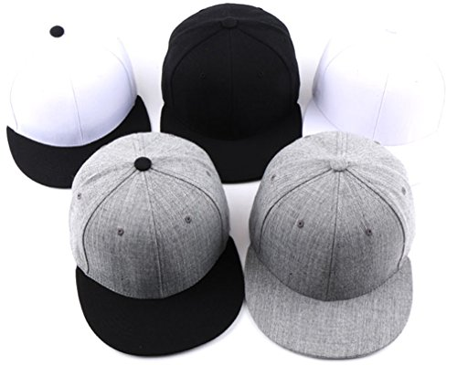 sujii AW MUJI Plain Hip Hop Boys Snapback Hat Trucker Baseball Cap All Grey