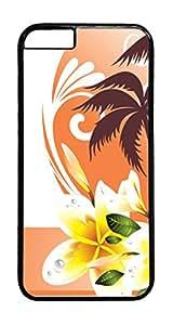 Orange Crush PC Case Cover for iphone 6 Plus 5.5inch - Black