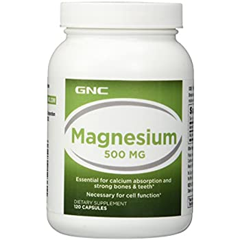 GNC Magnesium 500mg for Bone Tooth Strength - 120 Capsules