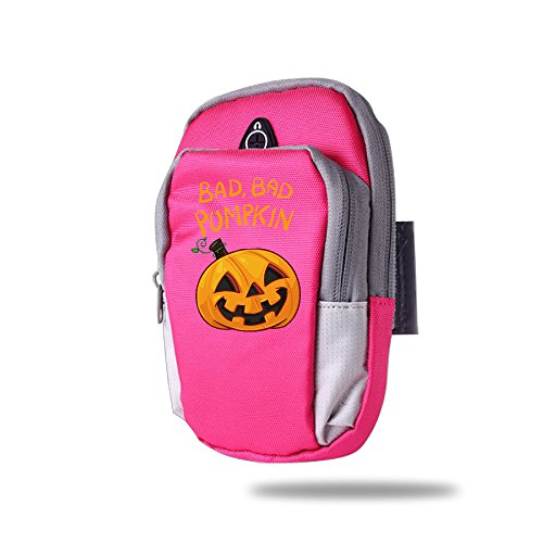 Bad Bad Pumpkin Happy Halloween Outdoor Sports Armband Arm Package Bag Cell Phone Bag Key Holder For Iphone 6/6s/7/7p One Size (Halloween Gladiator Accessories)