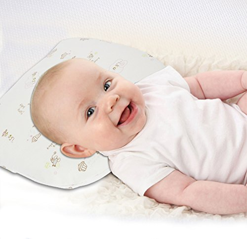 Aurelius Baby Head Shaping Pillow for Preventing Flat Head,Premium Nature Latex Infant Pillow