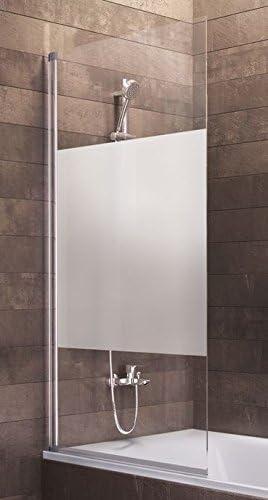 Schulte - Mampara de bañera Berlin de cristal de 1 pieza, gris ...