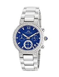 Porsamo Bleu Pilar Stainless Steel Silver Tone & Blue Women's Watch 502APIS