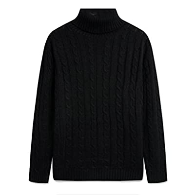 Cheap omniscient Men's Warm Turtle Neck Long Sleeve Pullover Tunic Sweater supplier