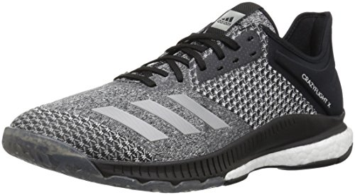 adidas Women's Crazyflight X 2 Volleyball Shoe, Black/Silver Metallic/White, 7 M US