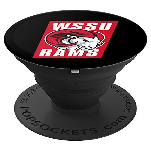 (WSSU Rams Collapsible Grip & Stand PPWSU054 - PopSockets Grip and Stand for Phones and Tablets)