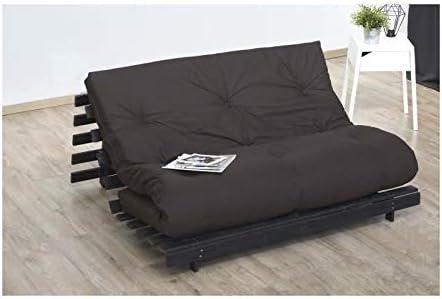 CONFORT DESIGN Cama futón (140 x 190 cm – 100% algodón – Shiva de Dreamea – Chocolate: Amazon.es: Hogar