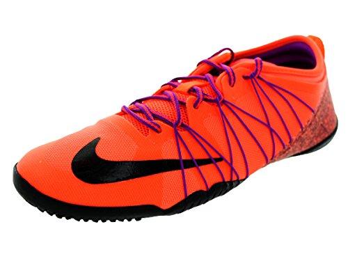 NIKE Womens Free 1.0 Cross Bionic 2 Running Trainers 718841 Sneakers Shoes (US 7, Hyper Orange Black Purple 801) (Nike Cross Bionic Shoes Women)