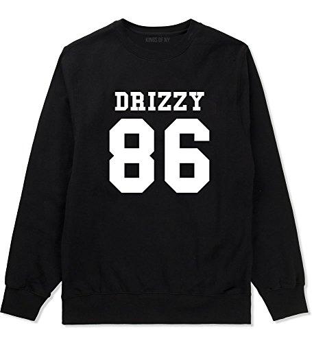 Kings Of NY Drizzy Team 86 Toronto Canada Hiphop Rap Crewneck Sweatshirt XXX-Large Black