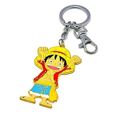 Amazon.com: Anime Keychains One Piece Monkey D Luffy Portgas ...