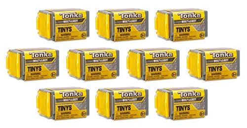 TONKA TINYS 쌓을수 있는 차고 장님 상자 10 팩을 가진 작은 진짜 거친 차량을 구르기