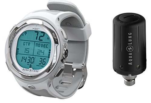 Aqua Lung i450t Hoseless Air Integrated Wrist Watch Dive Computer w/ Transmitter and USB, White