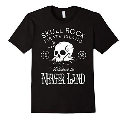 Rock Graphic Tee - Disney Peter Pan Skull Rock Vintage Graphic T-Shirt