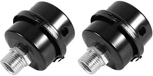 Compresor de aire color negro 2 unidades, filtro de silenciador, rosca de 1//2, 20 mm, metal, para compresor de aire, compresor de aire