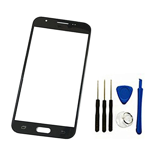 Price comparison product image Front Screen Outer Glass top Panel Lens cover For Galaxy J7 2017 SM-J727 J727R4 J727V J727P SM-J727A & J7 Sky Pro &&J7 Prime 2017 SM-J727T1 replacement (black)