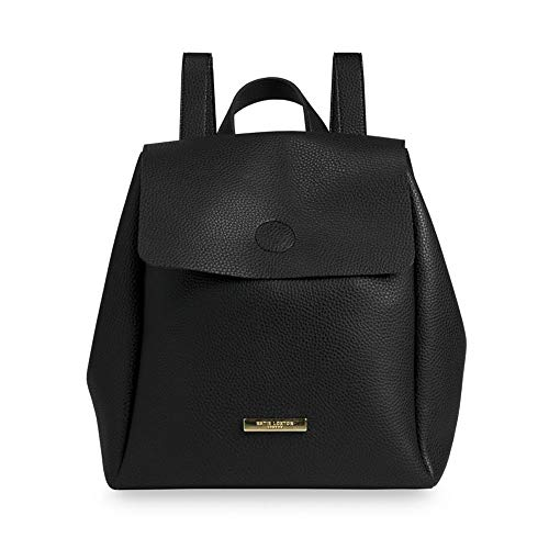 Katie Loxton Bea Back Pack Black Medium Women's Faux Leather Drawstring -