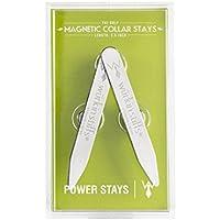 "2 Wurkin Stiffs Metal Magnetic Collar Stays in Clear Plastic Case (2.5"")"