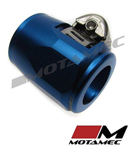 Motamec AN6 - Abrazadera de 15 mm para el final de la manguera de combustible con cabeza hexagonal aleació n en color azul.