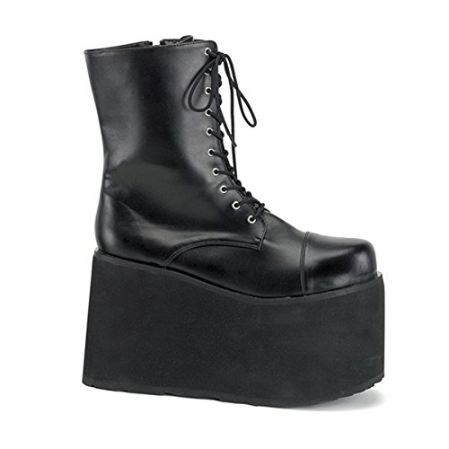 5 Inch MENS SIZING Wedge Gothic Ankle Boot Lace Up Front Platform Size: Large ()