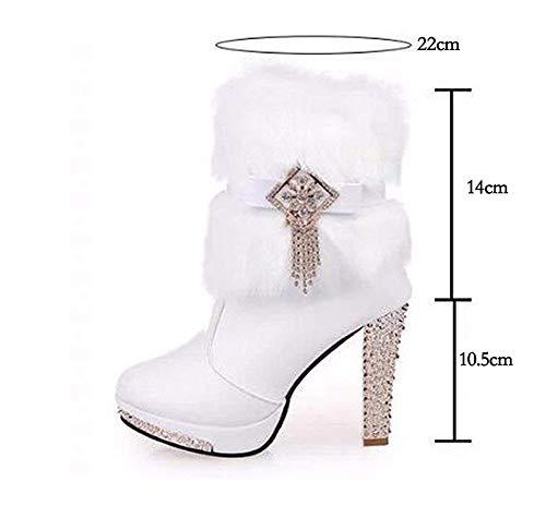 Impermeabile Da 36 's Heel Deed S Shoes Donna' Donna Boots Zipper Table Eu Scarpe qf4Zn1