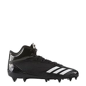 adidas Adizero 5Star 6.0 Mid Cleat Men's Football 8.5 Core Black-White